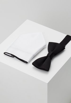 ONSTED BOW TIE SET - Pocket square - black