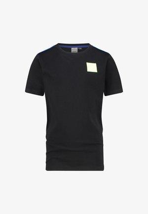 HAMPHY - Print T-shirt - deep black