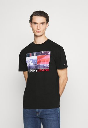 PHOTO GRAPHIC TEE - Print T-shirt - black