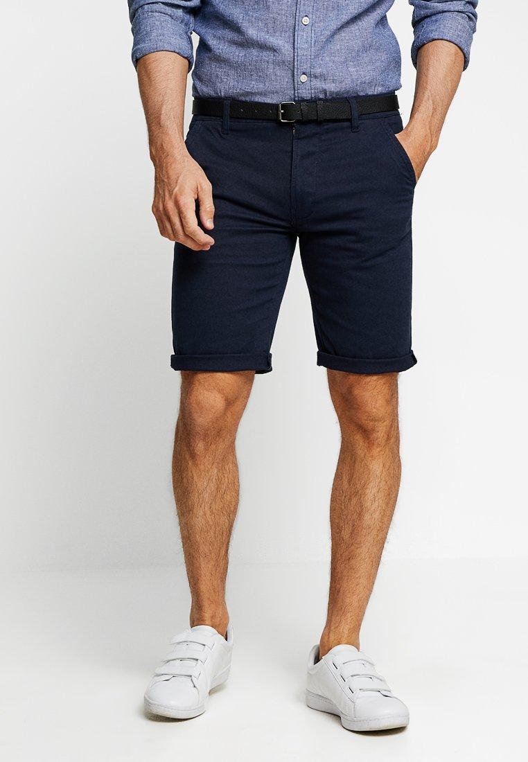 Lindbergh - CLASSIC  BELT - Shorts - navy