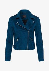 zero - VELOURSLEDER-OPTIK - Faux leather jacket - ink petrol - 4
