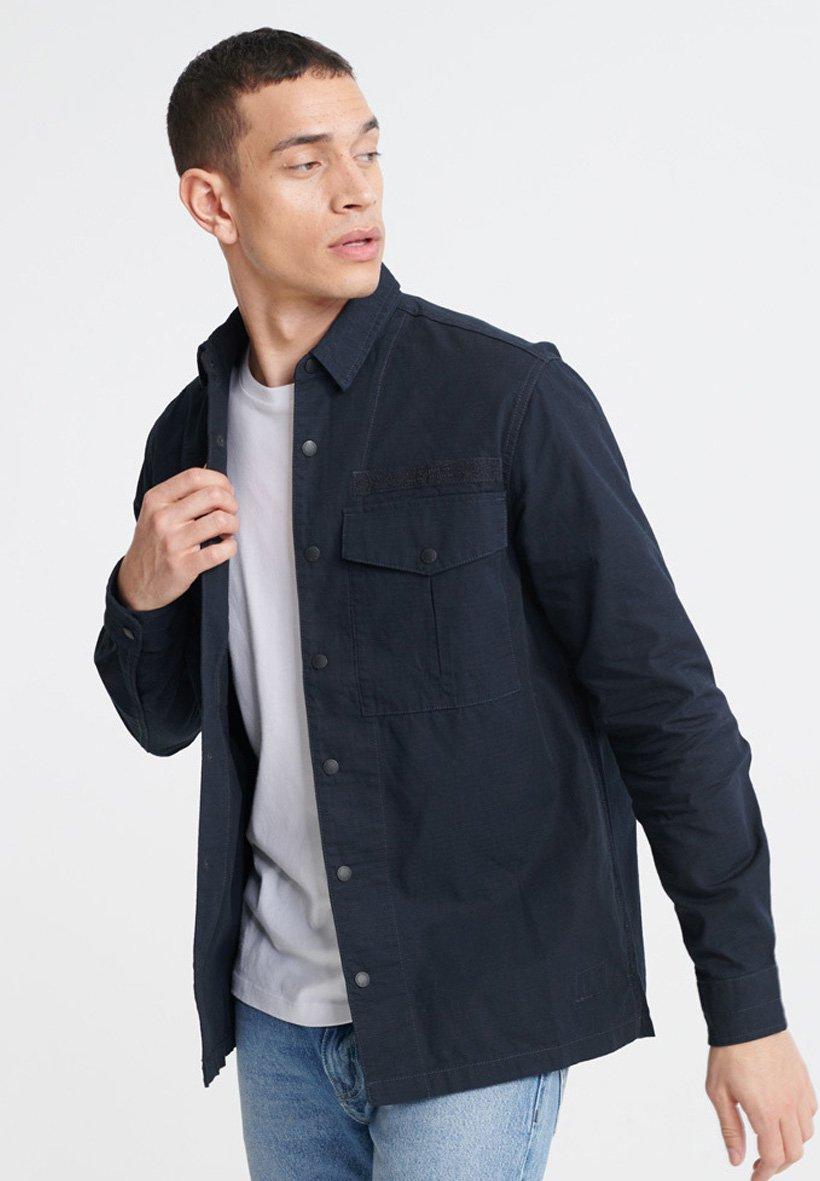 Homme SUPERDRY FIELD EDITION LONG SLEEVE SHIRT - Chemise