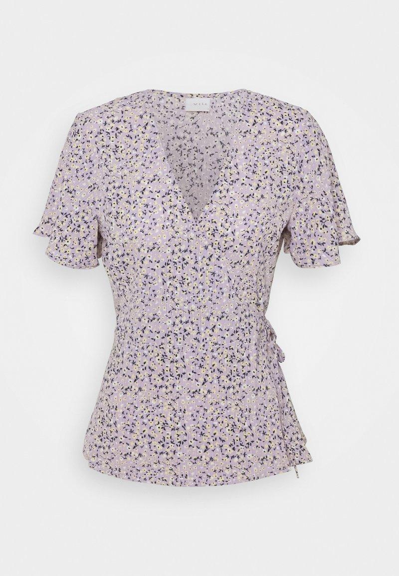 Vila - VILOVIE WRAP - Printtipaita - lavender