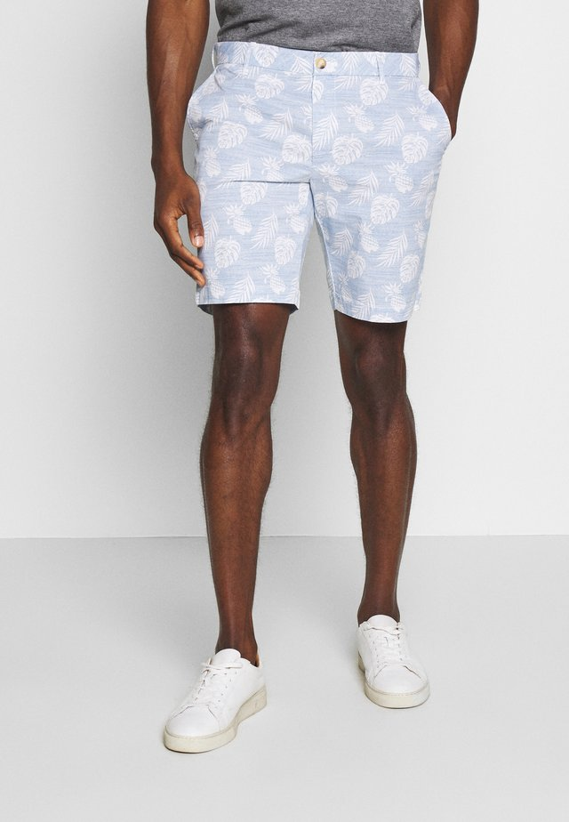 PRINTED LEAVES  - Shorts - blue revival