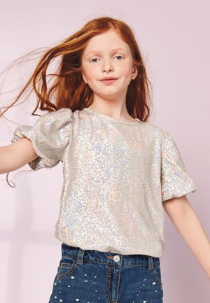 PARTY SEQUIN - Blouse - silver