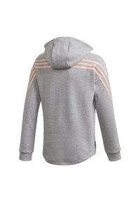 adidas Performance - STRIPES FULL-ZIP HOODIE - Felpa aperta - grey