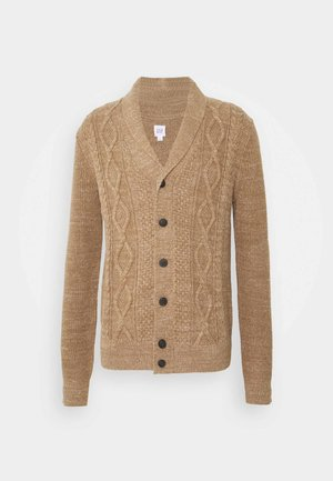 CABLE - Gilet - camel beige