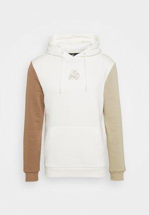 CANON TRI COLOUR HOOD - Sweatshirt - vanilla ice/stone/crockery