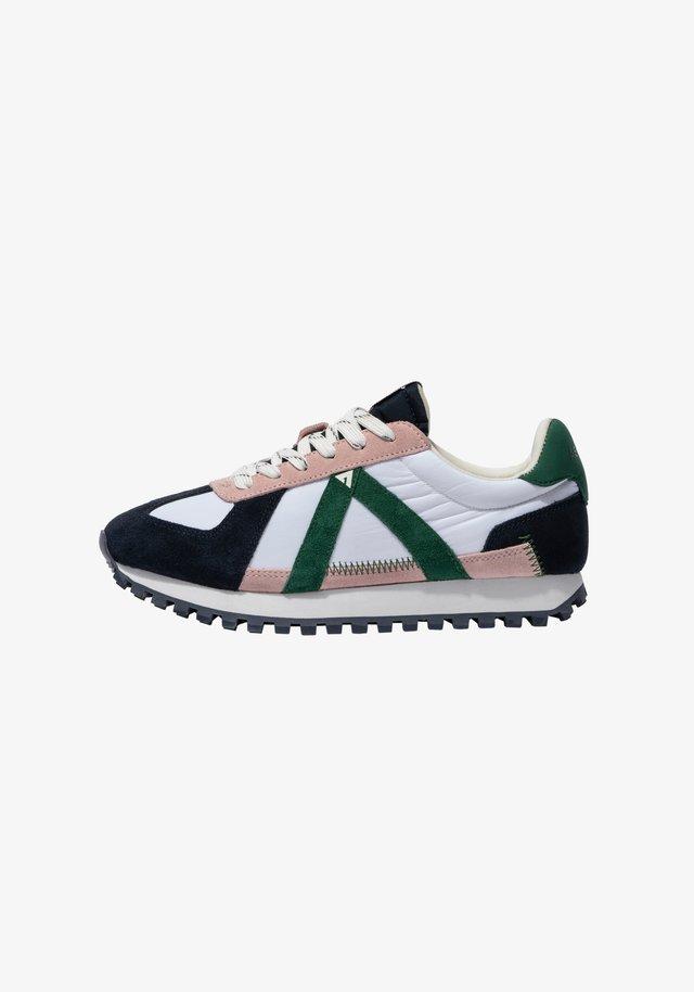 GATE GAT004 - SNEAKER LOW - Sneakers laag - navy pink green