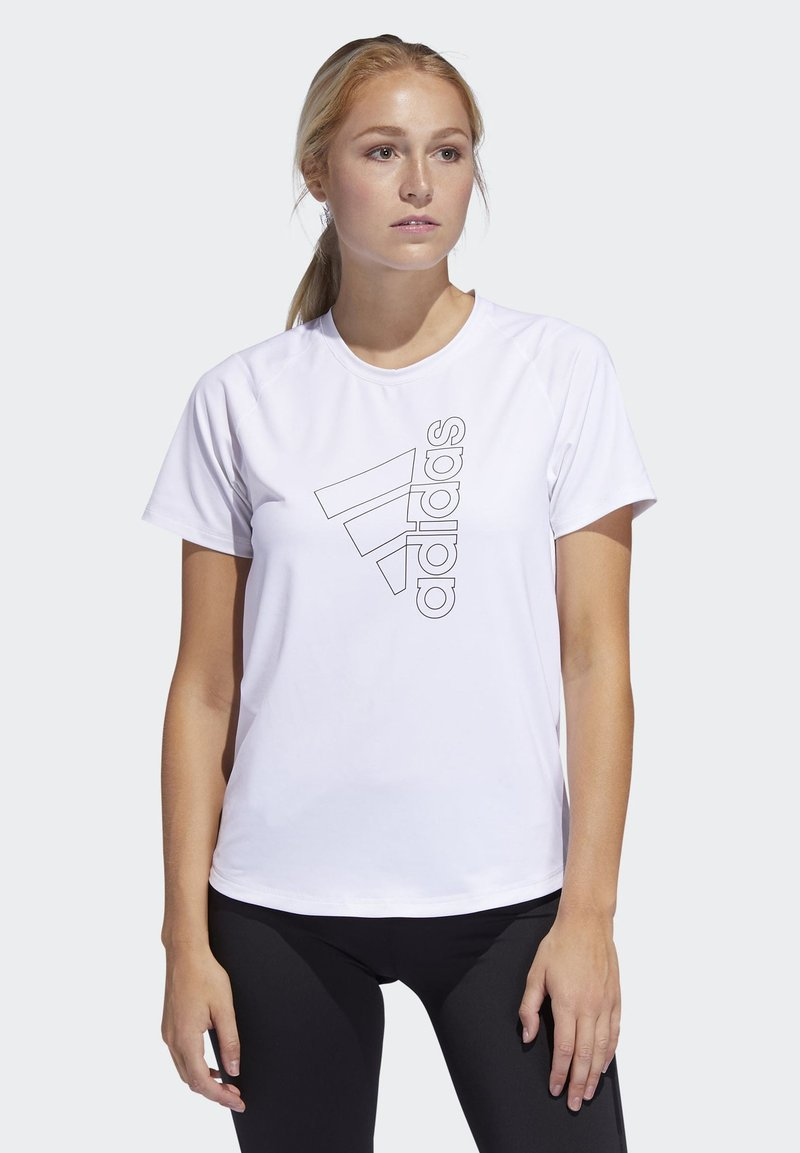 adidas Performance - BADGE OF SPORT T-SHIRT - Print T-shirt - white