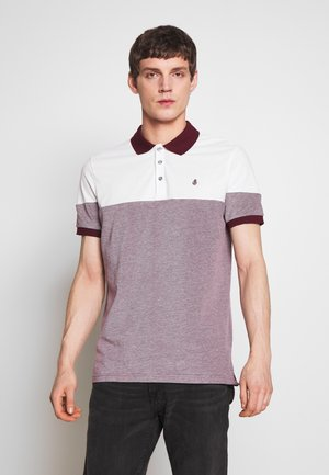 CUT AND SEW BURG - Polo shirt - burgundy
