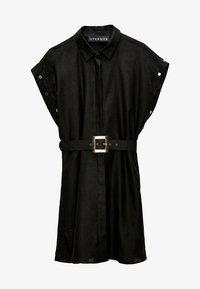 Uterqüe - Shirt dress - black - 4