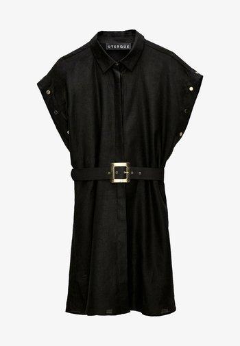 Shirt dress - black