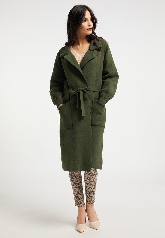 Classic coat - smaragd