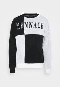 Mennace - QUARTER PANEL GOTHIC TEXT CREW NECK - Sweter - black - 4