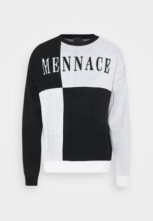 QUARTER PANEL GOTHIC TEXT CREW NECK - Maglione - black
