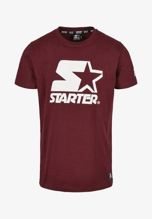 T-shirt con stampa - oxblood