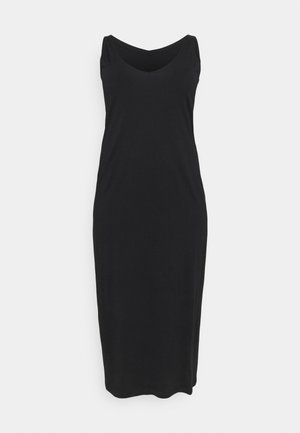 CARAPRIL LIFE V-NECK DRESS - Denimové šaty - black