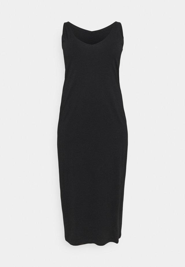 CARAPRIL LIFE V-NECK DRESS - Denimové šaty - black