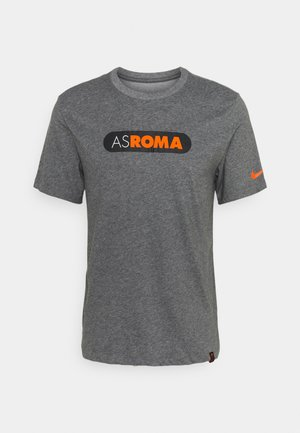 AS ROM DRY TEE GROUND - T-shirt imprimé - charcoal heathr