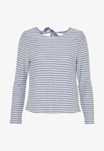 ONLELLY STRIPE BOW - Pullover - insignia blue/cloud dancer