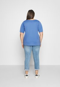 MY TRUE ME TOM TAILOR - WITH SLEEVE DETAIL - Print T-shirt - marina bay blue - 2
