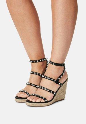 MALI - Platform sandals - black