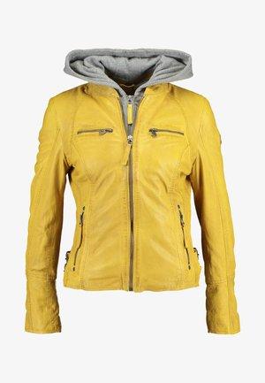 NOHLA - Veste en cuir - yellow