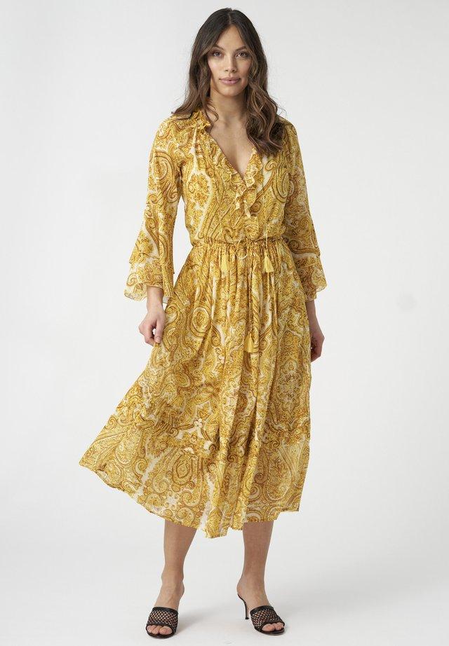 BRENDA - Day dress - paisley yellow
