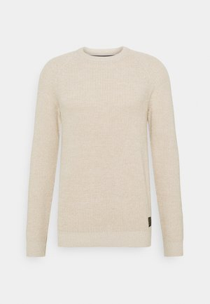 SLHIRVING CREW NECK - Jumper - bone white