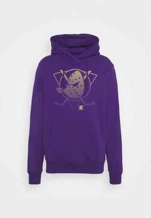 NHL ANAHEIM DUCKS FADE CORE GRAPHIC HOODIE - Klubové oblečení - purple