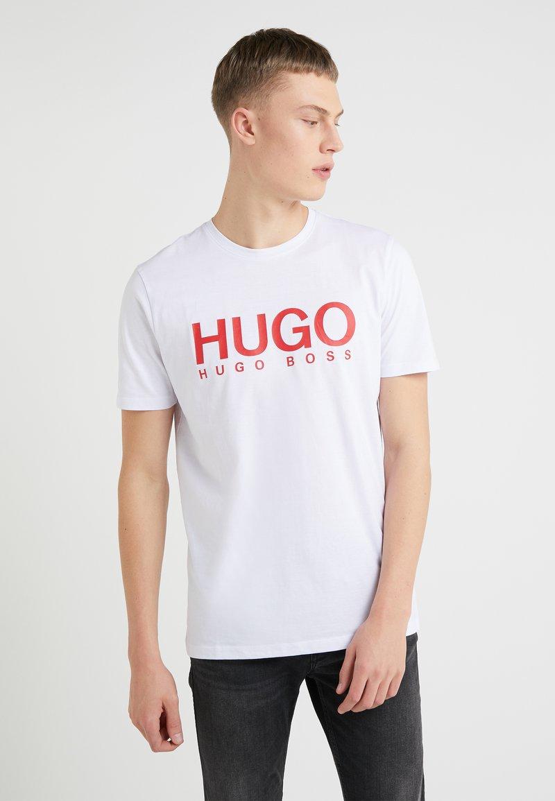 HUGO - DOLIVE - Printtipaita - white