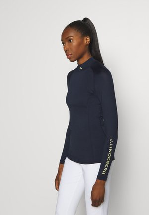 ÅSA SOFT COMPRESSION - Long sleeved top - navy