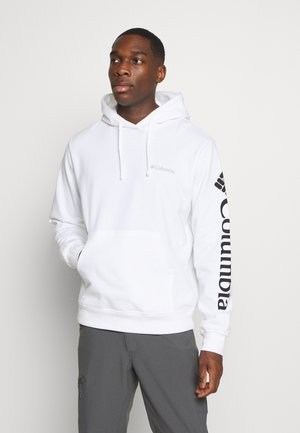 VIEWMONTII SLEEVE GRAPHIC HOODIE - Huppari - white