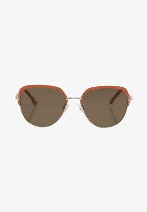 EYEWEAR PILOTEN MIT GETÖNTEN - Sunglasses - coral light gold
