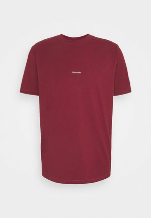 LIVE TEE - T-shirt imprimé - burgundy