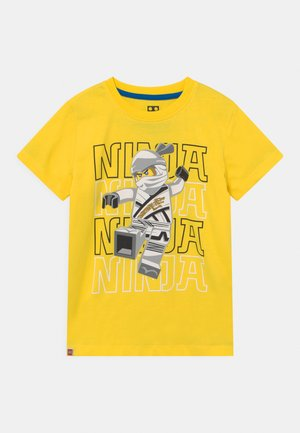 Print T-shirt - yellow