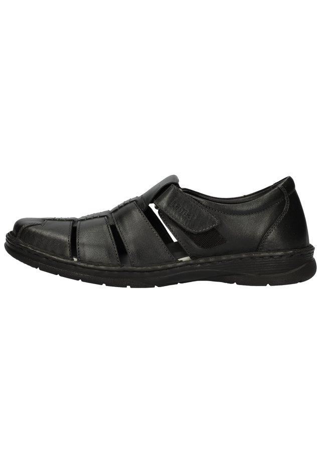 BAMA HALBSCHUHE - Loafers - schwarz 1