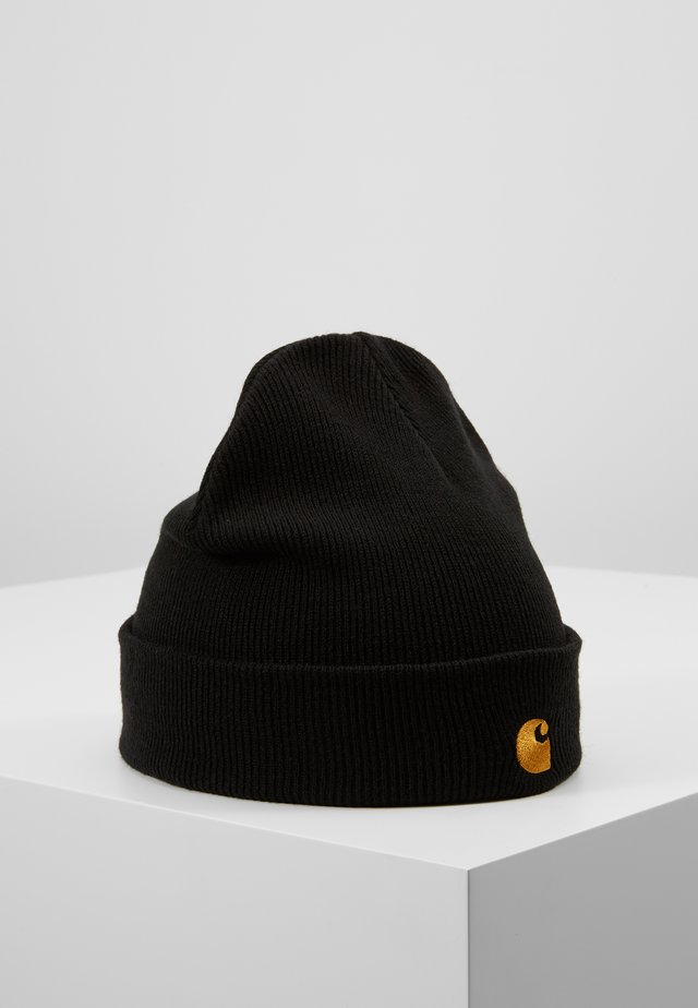CHASE BEANIE - Berretto - black/gold
