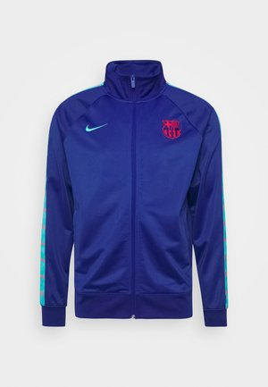 FC BARCELONA TAPE - Giacca sportiva - deep royal blue/oracle aqua