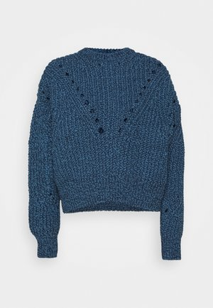 OPEN - Strikkegenser - navy