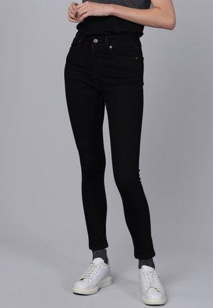 Skinny džíny - black/bordeaux