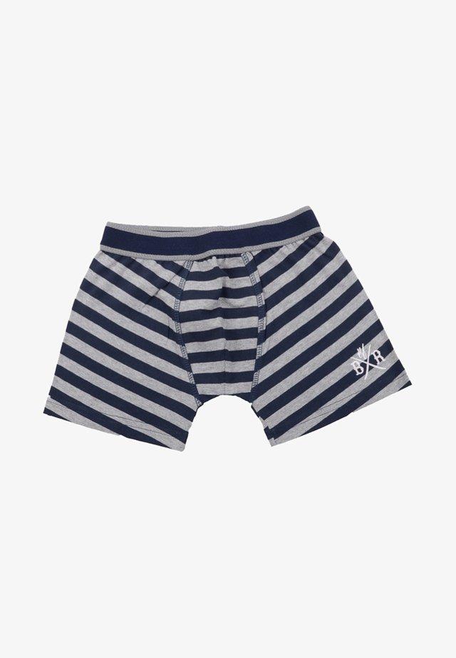 Pants - navy-dirty grey melange