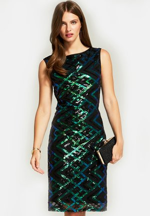 SLEEVELESS SEQUIN - Vestido de cóctel - green