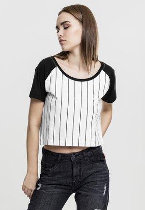 T-Shirt print - white/black