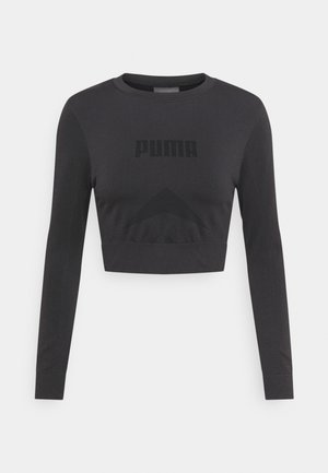 EVOSTRIPE LONGSLEEVE TEE - Long sleeved top - black