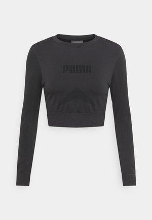 EVOSTRIPE LONGSLEEVE TEE - Camiseta de manga larga - black
