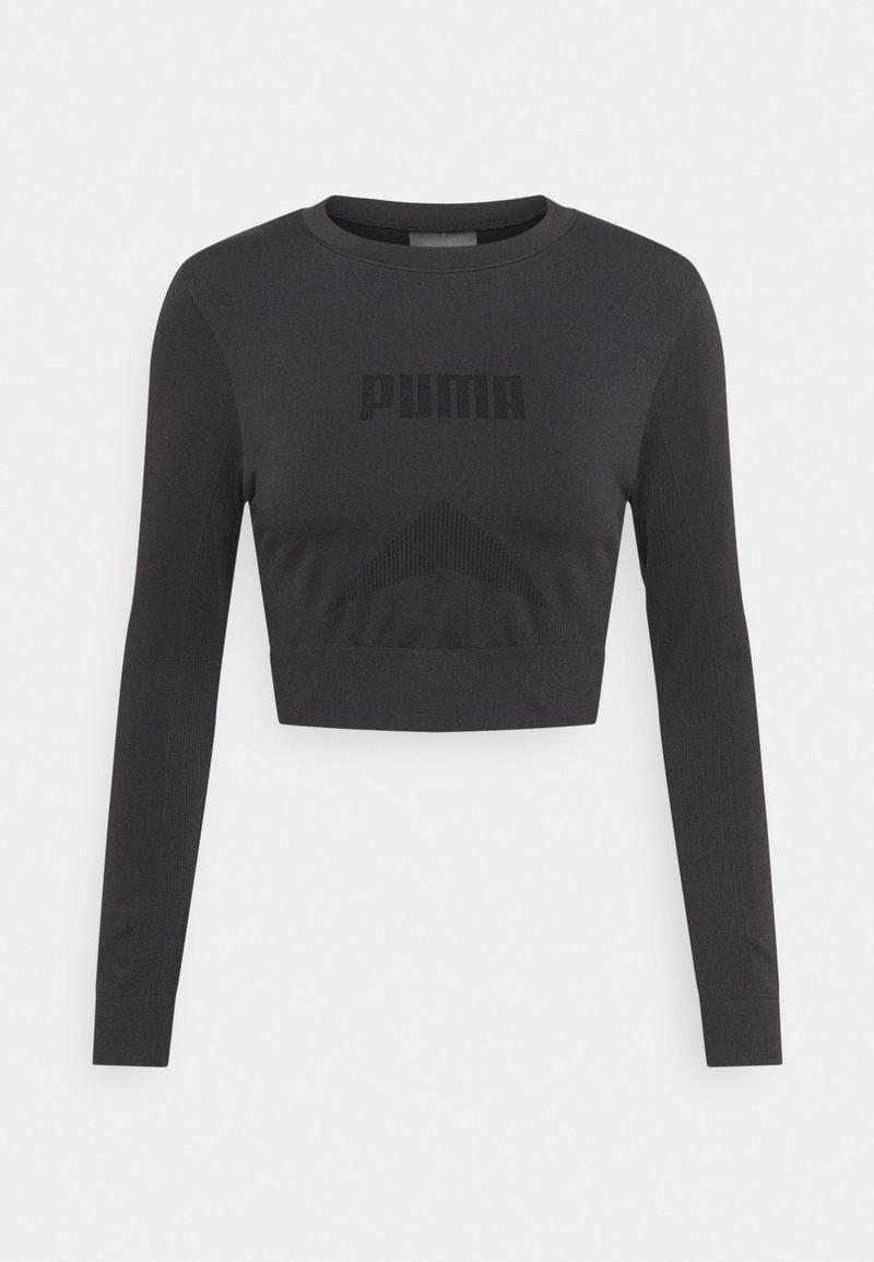 Puma - EVOSTRIPE LONGSLEEVE TEE - Long sleeved top - black