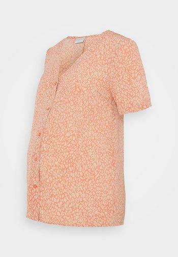 PCMGILBERTA - Button-down blouse - deep sea coral