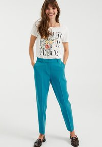 WE Fashion - Trousers - petrol - 1